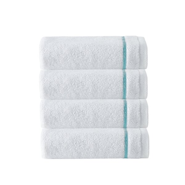 Exmore 4 Piece 100% Cotton Washcloth Set (Set of 4